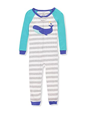 dcde2acbd90a Amazon.com  Carter s Boys  One Piece Dino Snug Fit Cotton Footless ...