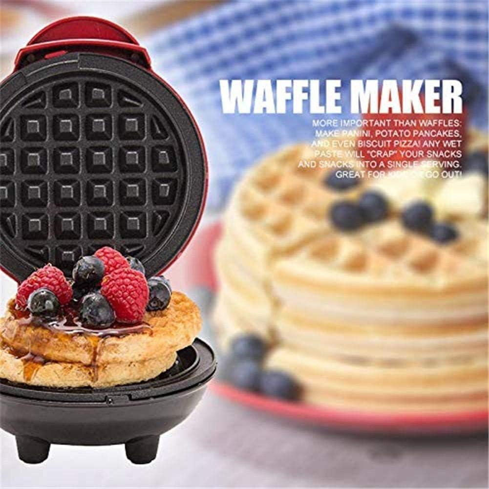 Forno Elettrico Rotondo Mini Macchina per Waffle per Uso Domestico Biscotti Indicatore Luminoso Uova Facili da Preparare Pancake Teglia Elettrica per Uso Domestico 350 W