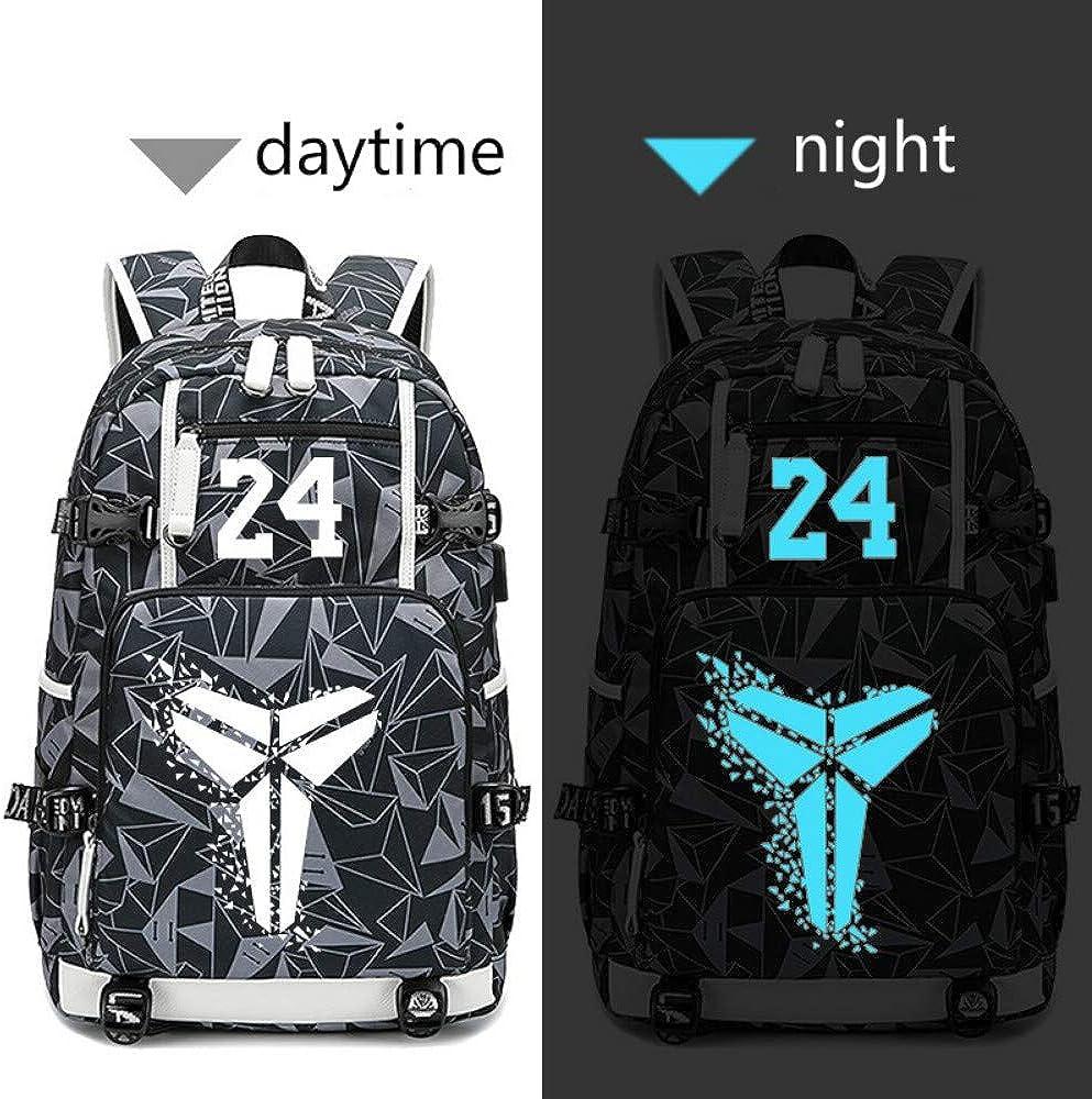 ZFJ Basketball Superstar Commemorative Models Luminous Printed Multi-Function Daily Backpack