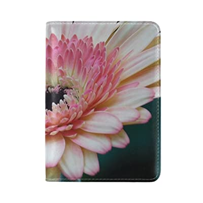 Plants Flower Gerbera Pastel Leather Passport Holder Cover Case Travel One Pocket
