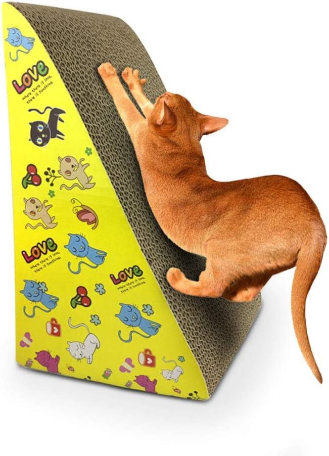 Rascador de Carton Para Gatos,Rasgu/ño de Gato Cart/ón Corrugado Gatos Juguete Para Dormir Para Moler el Masaje del Cuerpo de la Garra Alfombra Rascador Para Gatos Cat Scratch Board Patr/ón Aleatorio