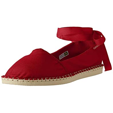 be4ced9e2 Amazon.com | Havaianas Women's Origine Slim Espadrille Ruby Red 38 M ...