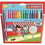 STABILO Power Felt Tip Colouring Pens (18 Pack)