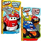 chuck toy truck - Tonka Chuck Board Book Set For Kids Toddlers (Set of 2 Tonka Board Books)