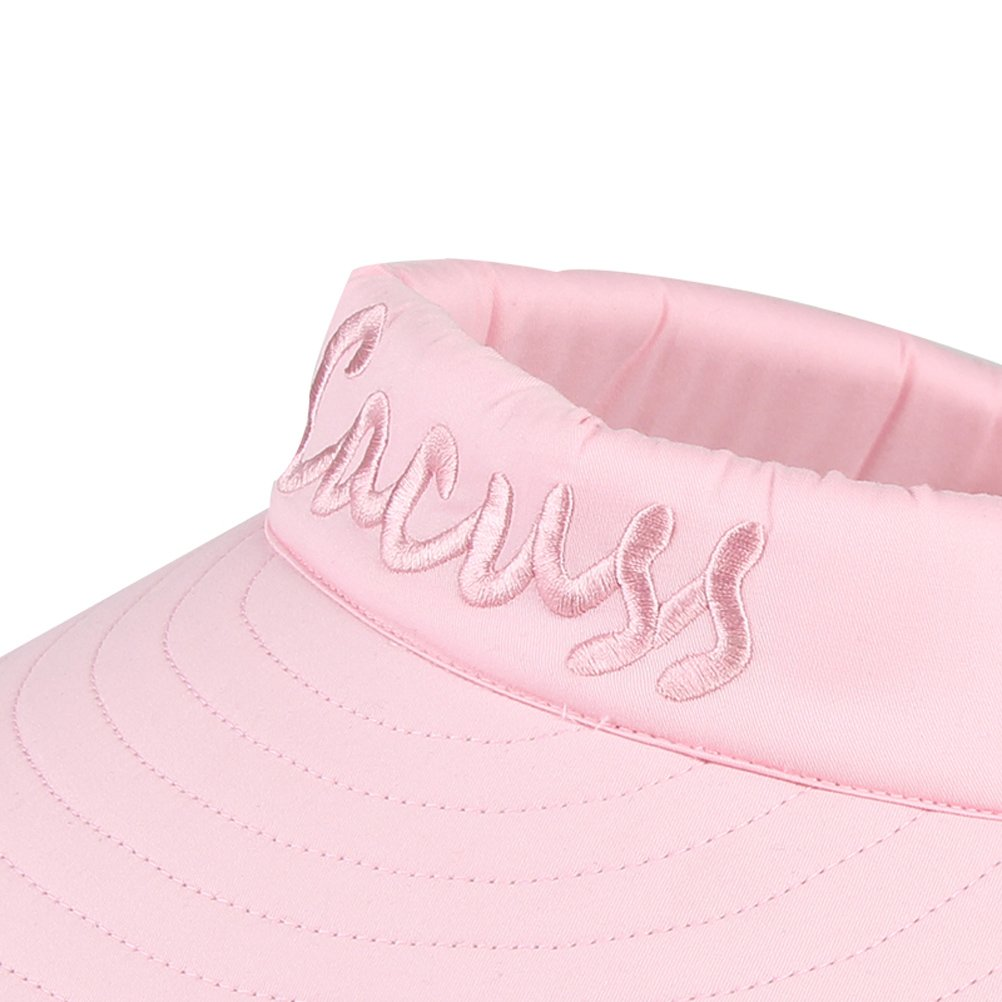 CACUSS Women's Summer Sun Hat Large Brim Visor Adjustable Magic Tape Packable UPF 50+(Pink) by CACUSS (Image #8)