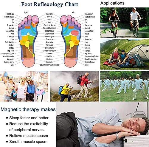 Magnet-Therapie abnehmen Einlegesohlen, atmungsaktive magnetische Schuhpolster, Einlegesohlen-Massagegerät Body Detox Diät lindert Schmerzen Füße für Männer Frauen, klein