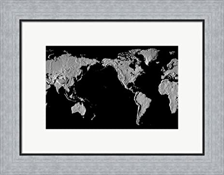 Amazon close up of a world map black framed art print wall close up of a world map black framed art print wall picture flat gumiabroncs