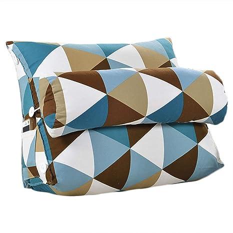Cojín triangular para sofá o cama o como respaldo para despacho, tamaño grande, lavable, protege el cuello, multifunción, de buena calidad, 55 x 50 x ...