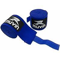 Bandagem Elástica Muvin 3 Metros Com Velcro e Alça Para Polegar - Atadura de Proteção Para Mãos e Punhos - Faixa de Boxe…