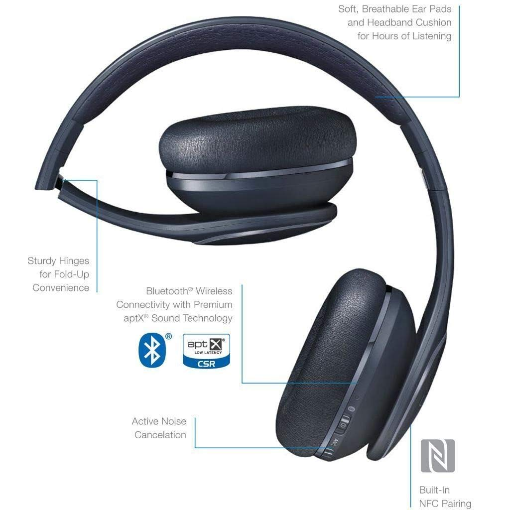 Samsung Level On Wireless Noise Canceling NFC Headphones Black Universal Bluetooth - with Wall/Car Charger - (Refurbished)