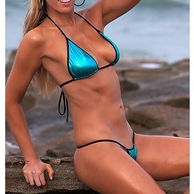 ac2c5f63d98ba Amazon.com  SHERRYLO Micro Bikini Triangle Top String Thong Two Pieces  Exotic Swimwear Minimal Bathing Suits  Sports   Outdoors