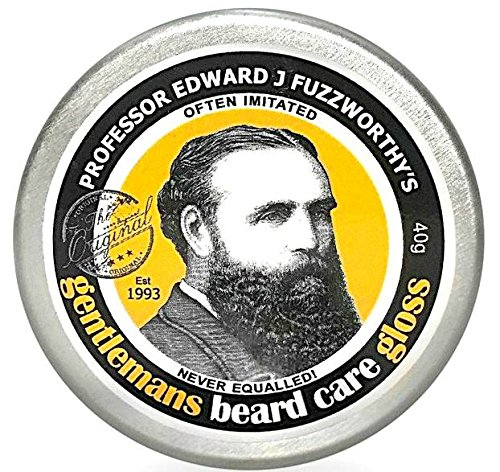 Professor Fuzzworthy's Beard Care Balm Gloss Leave In Conditioner All Natural Organic Leatherwood Honey & Essential Plant Oils | Handmade in Tasmania Australia- 40g