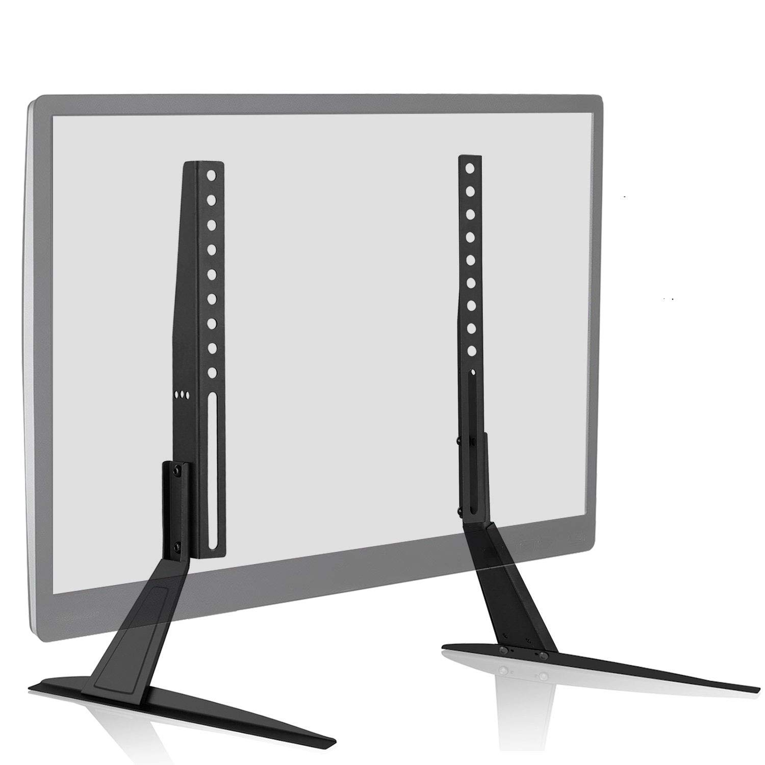WALI Universal TV Stand Table Top for Most 23 to 42 inch LED LCD Flat Screen TV, VESA up to 200 by 400mm , Black by WALI