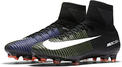 Nike Men's Mercurial Superfly FG Soccer Cleat (Sz. 8) Black, Electric Green