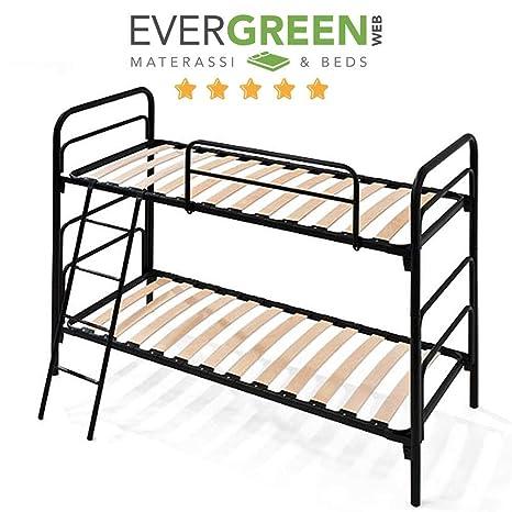 evergreenweb metall etagenbett fur kinder oder erwachsene lattenroste 80x190 doppel hochbett 150cm extra komfort