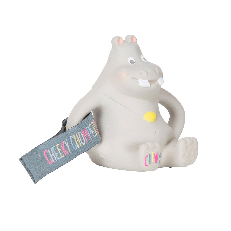 Cheeky Chompers Essentials neckerchew Aqua Hippo