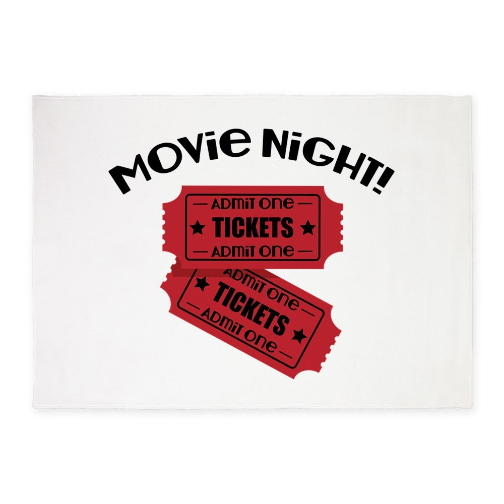 CafePress - Movie Night! - Decorative Area Rug, 5'x7' Throw Rug