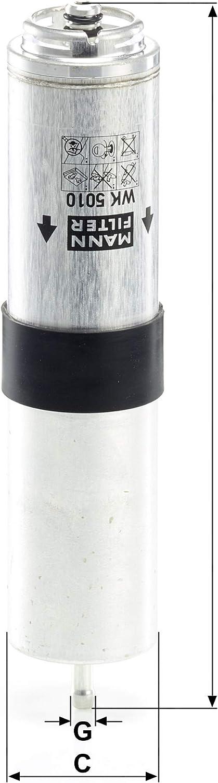 Original Mann Filter Kraftstofffilter Wk 5010 Z Kraftstofffilter Satz Mit Dichtung Dichtungssatz Für Pkw Auto