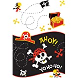 Pirate Party Plastic Tablecloth, 7ft x 4.5ft