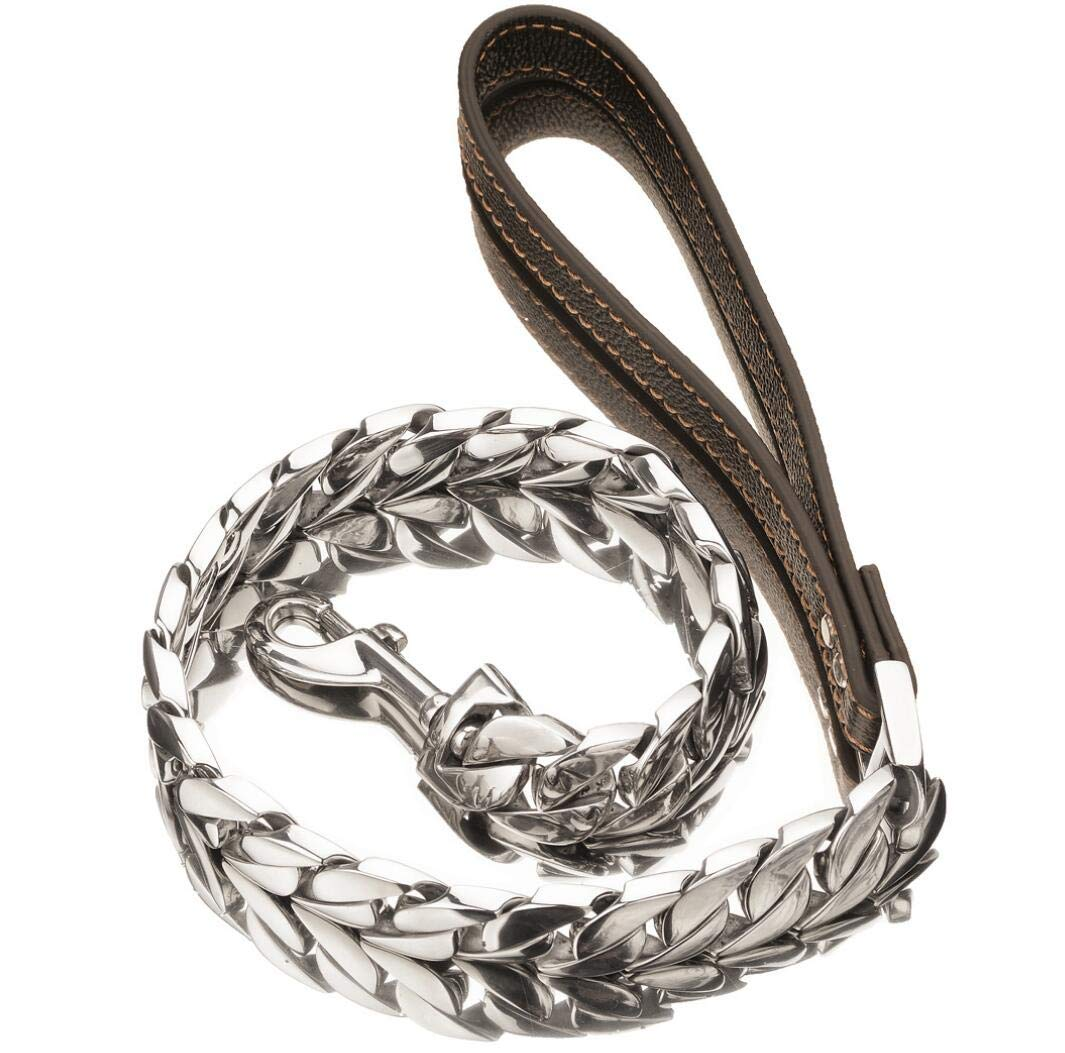 30MM50CM 30Mm Dog Chain Titanium Steel Stainless Steel High-Grade Polished Casting Thick Chain Large Pet Dog Leash