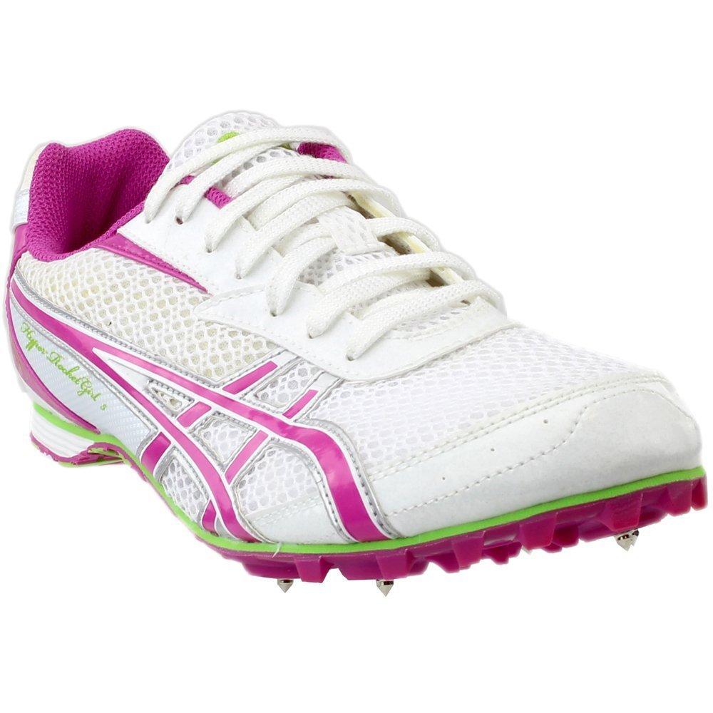 ASICS Women's Hyper-Rocketgirl 5 Track And Field Shoe,White/Fuschia/Apple Green,10 M
