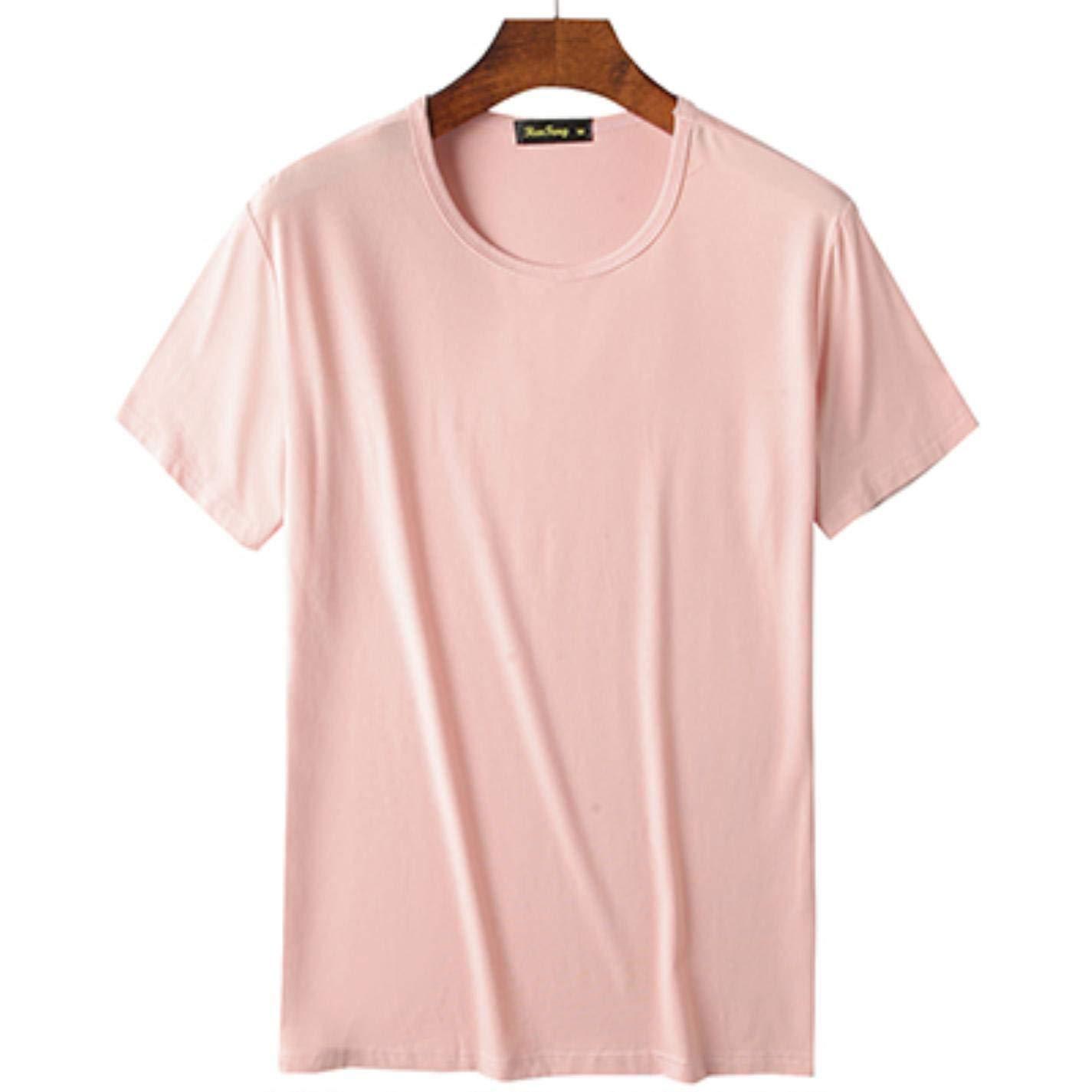 2019 Cool T Shirt Men Bamboo Fiber Hip Hop Basic Blank White Summer Top