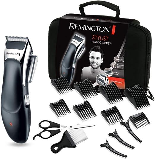 Remington Stylist HC363C - Máquina de Cortar Pelo Profesional, Kit 8 Accesorios y 8 Peines, Recargable, Cuchillas de Cerámica, Negro: Remington: Amazon.es: Salud y cuidado personal