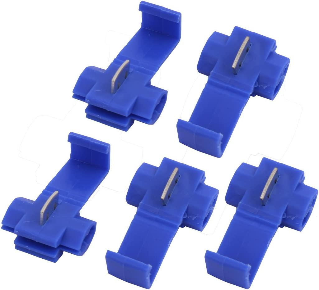 uxcell 5Pcs Quick Splice Spade Terminals Electrical Wire Connector Assortment Kit Blue