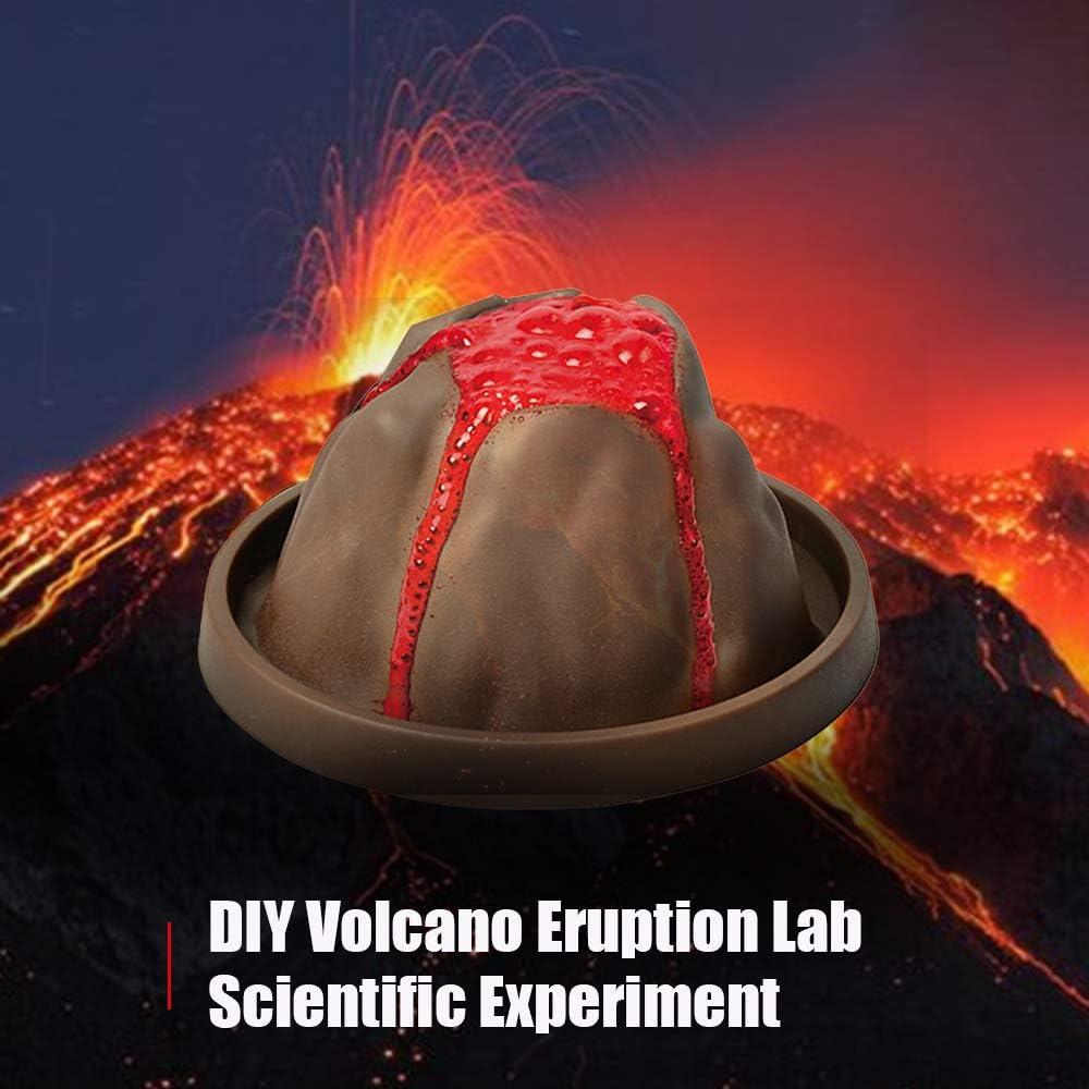Goolsky DIY Laboratorio de Erupción del Volcán Experimento científico Educación Estudio Juguetes para Niños Niñas: Amazon.es: Juguetes y juegos