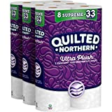 Quilted Northern  Ultra Plush Supreme Toilet Paper, 24 Supreme Rolls (Three 8-roll packages), Equivalent to 92+ Regular Rolls-Packaging May Vary