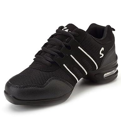 d867ab13c872 Amazon.com  YIBLBOX Womens Mesh Ballroom Dance Sneaker Lightweight ...
