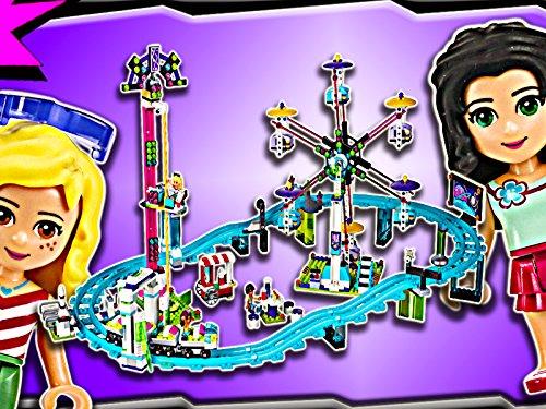 Clip: Amusement Park Roller Coaster