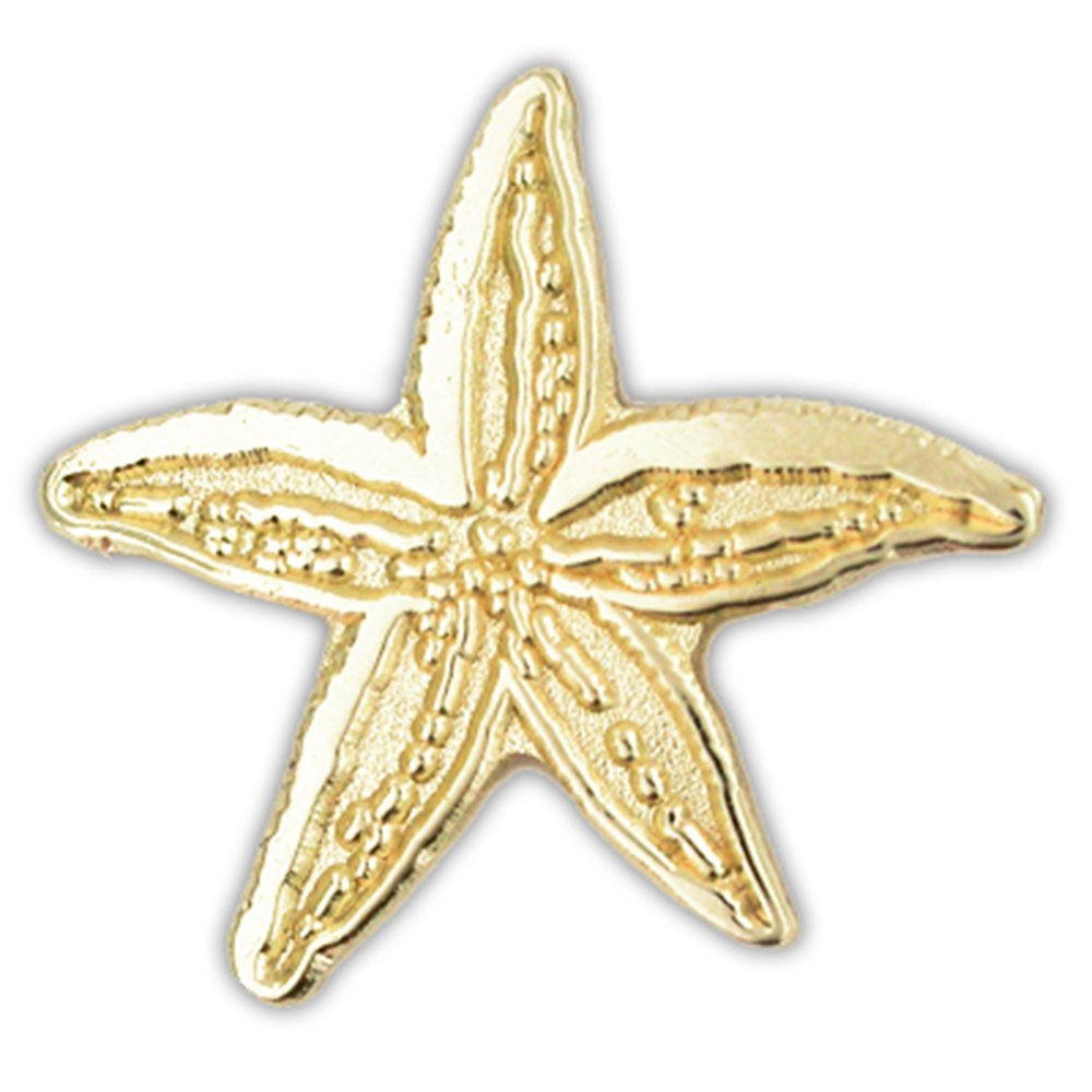 PinMart's Gold Plated Starfish Ocean Animal Lapel Pin