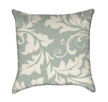 Miraculous Amazon Com Moss Green White Filigree Flourish Throw Pillow Gamerscity Chair Design For Home Gamerscityorg