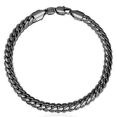 U7 Men Fashion Punk Rock 6MM-9MM 18KGP Stamped Gold Plated Link Bracelet,  8 3