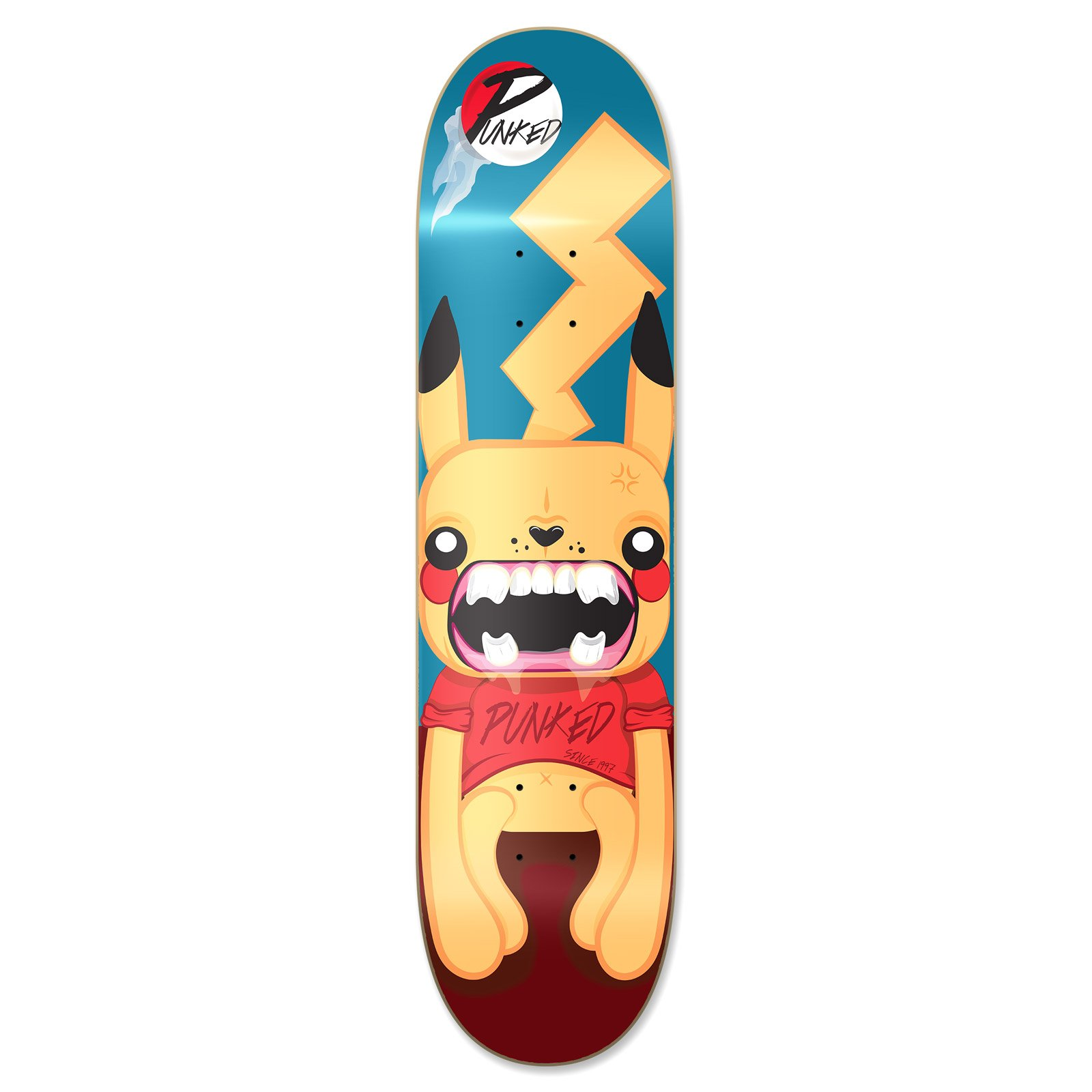 Yocaher Pika Punked Complete Skateboards available in 7.75'' , Mini Cruiser and Micro cruiser shapes (Deck - 7.75 inch)
