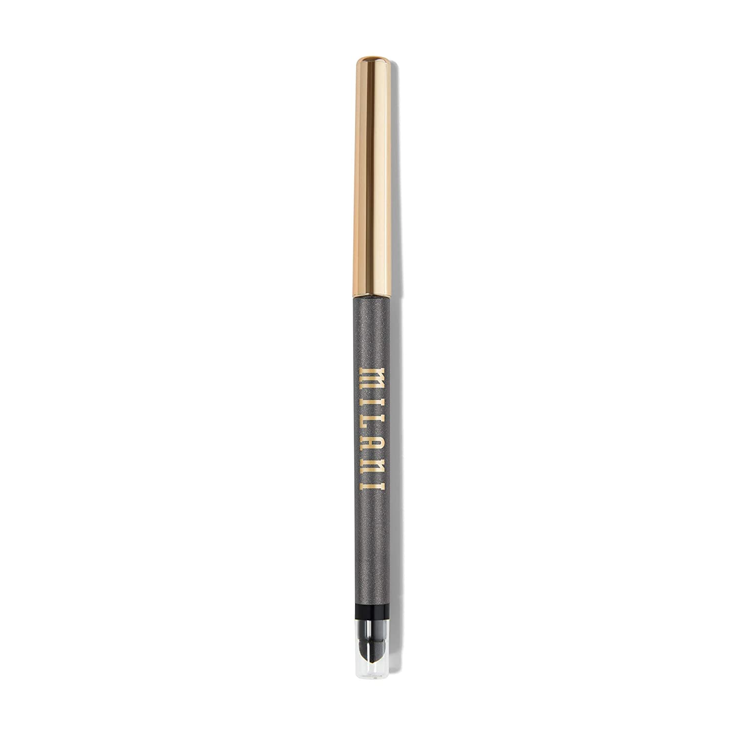 Milani Stay Put Eyeliner - Silver Foxy (0.01 Ounce) Cruelty-Free Self-Sharpening Eye Pencil with Built-In Smudger - Line & Define Eyes with High Pigment Shades for Long-Lasting Wear