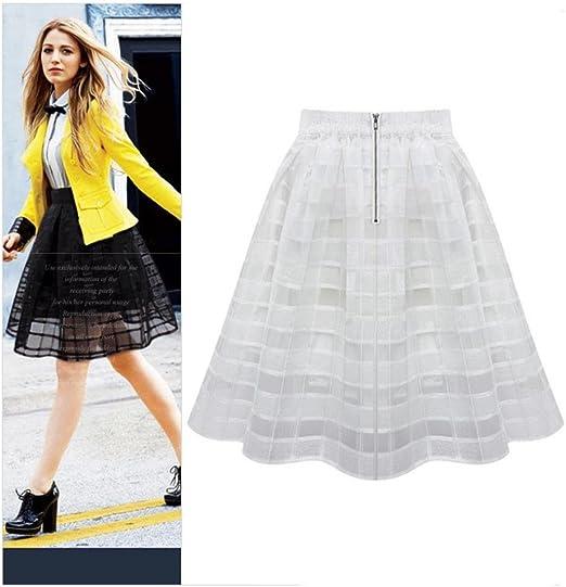 Las mujeres niñas a-line faldas Vintage cintura alta faldas tutú ...