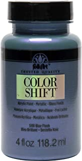 product image for FolkArt Color Shift Acrylic Paint in Assorted Colors (4 oz), Blue Flash