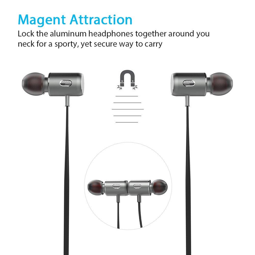 fozento inalámbrica Bluetooth auriculares, magnético Bluetooth RSE 4.2 auriculares estéreo cancelación de ruido auriculares IPX5 A prueba de sudor Deportes ...