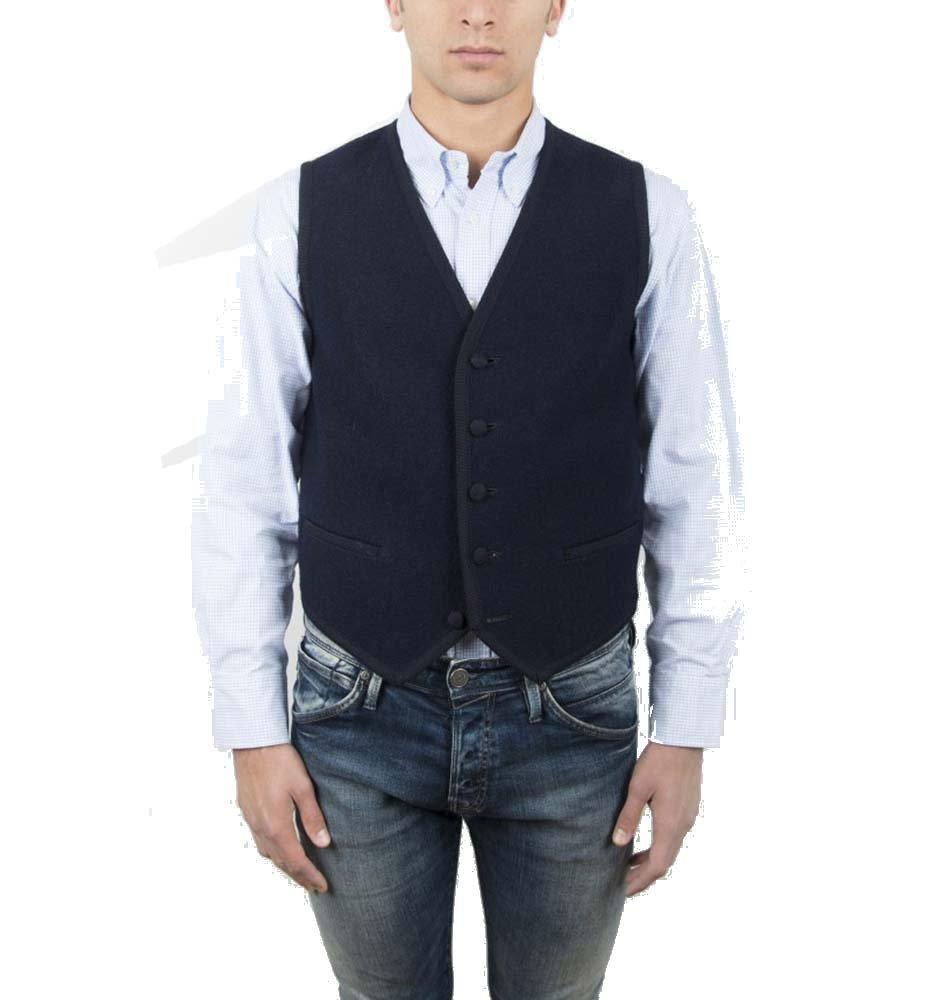 Vest, Gilet, Waistcoat, Knitwear, Men, Boy, Blue, Navy, Green, Wool, Buttons, Pockets, Casual, Business, Formal, Tailored, Sleeveless, Italian Fabric, Italian Style, Made in Italy, Handmade