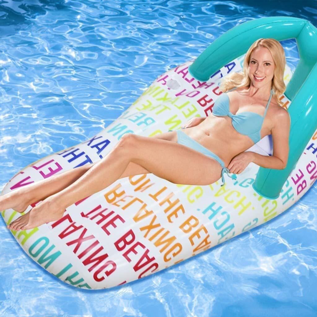 Zzyff Strand Pool aufblasbar, Sommer Wasser aufblasbar schwimmende Reihe - Pantoffel Modell aufblasbar Float Pool Lounger Schwimmen Wasser Flöße für Erwachsene Kinder, 158x70cm EIN Urlaub