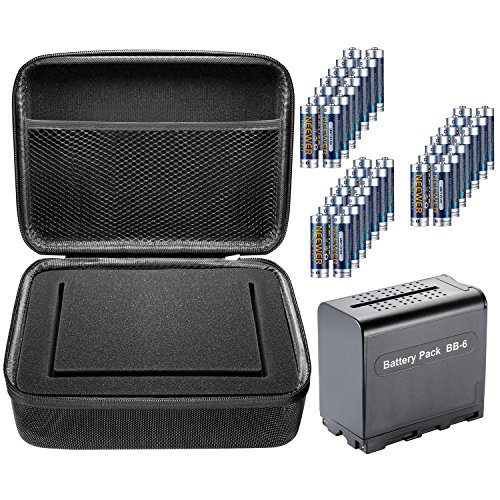 Neewer 7 inches Camera Field Monitor Accessory Kit for Neewer NW759 74K 760, Feelworld FW759 759P 760 74K and Others, Includes: BB-6 AA Battery Case, 18 Pieces AA Batteries, and Monitor Carrying Case by Neewer