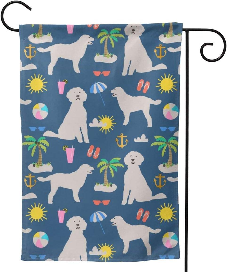AnleyGardeflagsU Golden Doodle Dog Beach Puppy Classic Garden Flag for Garden Decorations Party Supplies