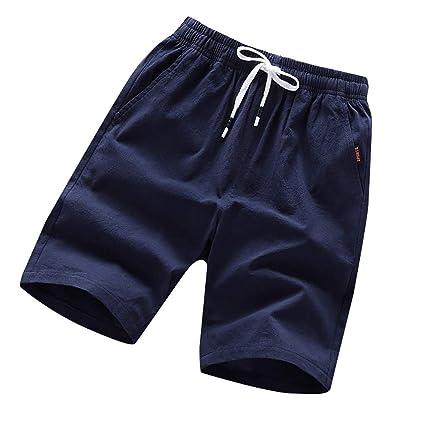 e17dc00753 Amazon.com: Board Shorts Long,Shybuy Men's Summer Fashion Pure Color ...
