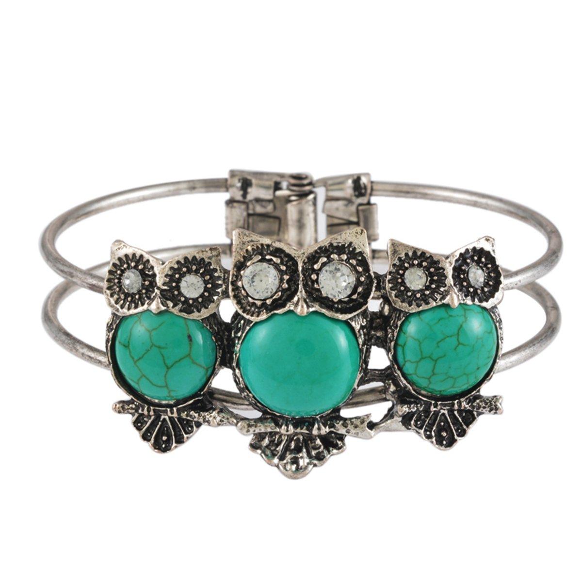 Housweety 1PC Owl Shape Bracelet for Men Women 21cm