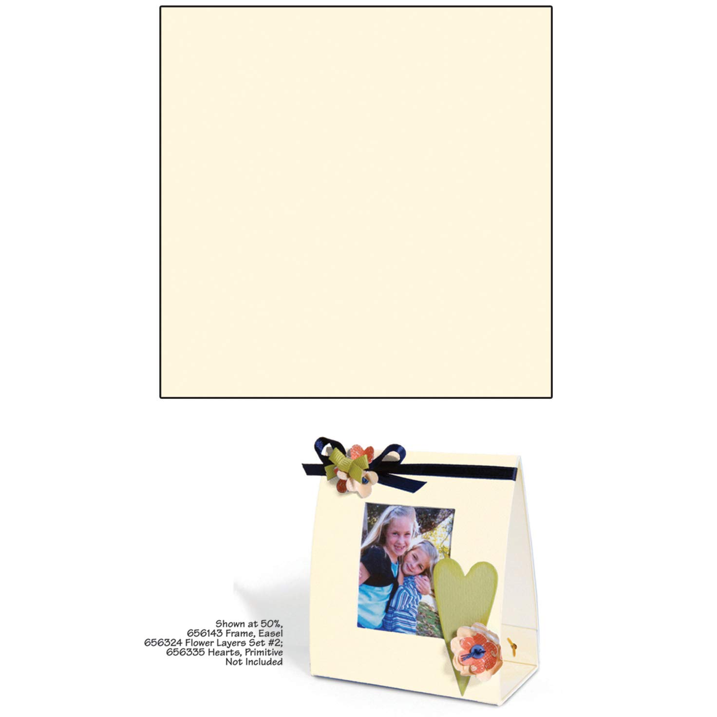 Sizzix Little Sizzles 6 X 13 Inches Mat Board Cream Sheets (12 Pack)