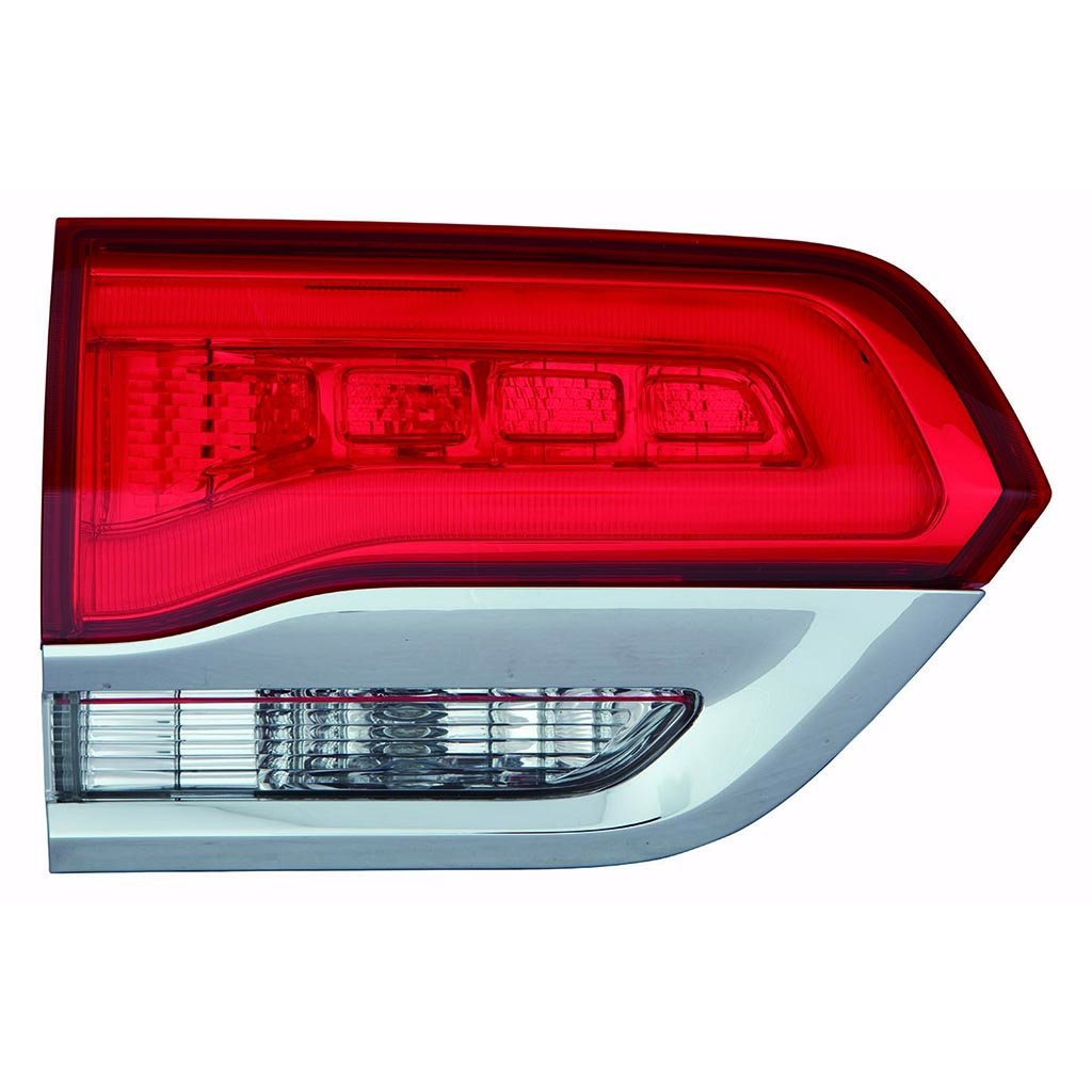 Fits Jeep Grand Cherokee 2014-2017 Platinum Chrome Shiny Trim Inner Tail Light Assembly Inner Laredo,Limited,Overland.Summit Model Driver Side CH2802105N