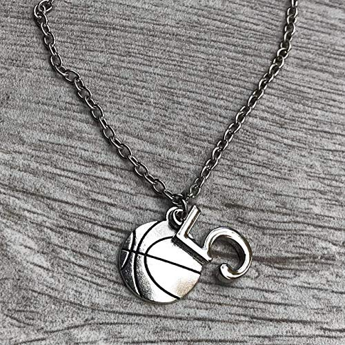 Personalized Basketball Necklace with Number Charm, Girls Basketball Jewelry, Perfect Gift for Girl Basketball Players