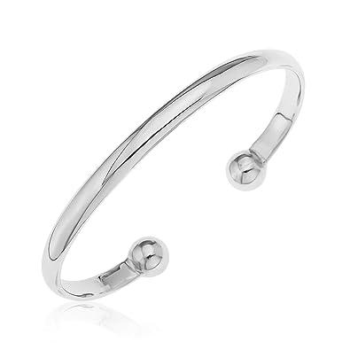 9d4677df1c6 Bracelet Jonc - Homme - Argent 925 1000 - 23.4 Gr - A66 NKB40330 ...